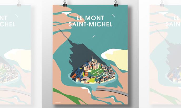 PROJET AFFICHE LE MONT-SAINT-MICHEL